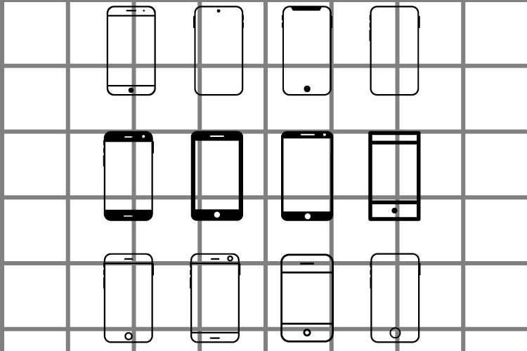Mobile phone SVG set for cut. Application illustration. example image 1