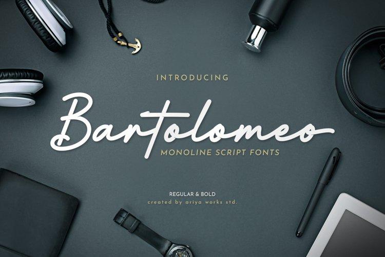 Bartolomeo | Monoline Script Fonts example image 1
