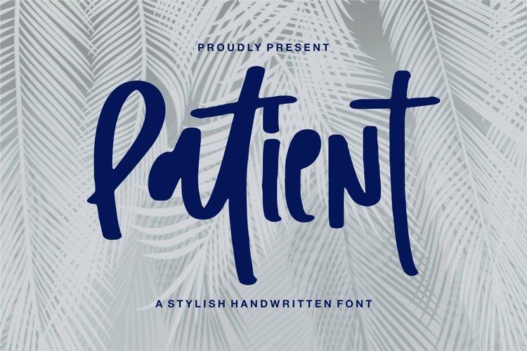 Web Font Patient - A Stylish Handwritten Font example image 1
