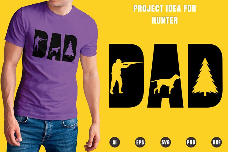Dad Hunter SVG - Father's Day Designs example image 1