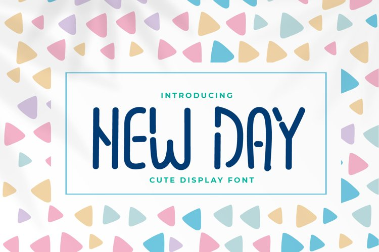 New Day - Cute Display Font example image 1