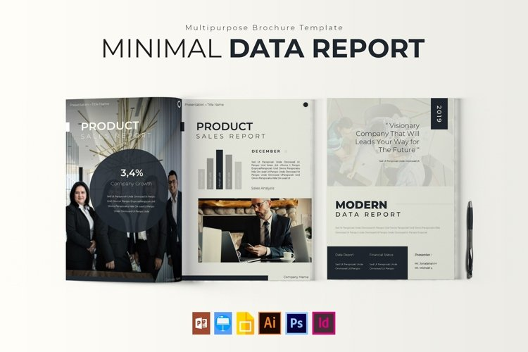 Minimal Data | Report Template example image 1