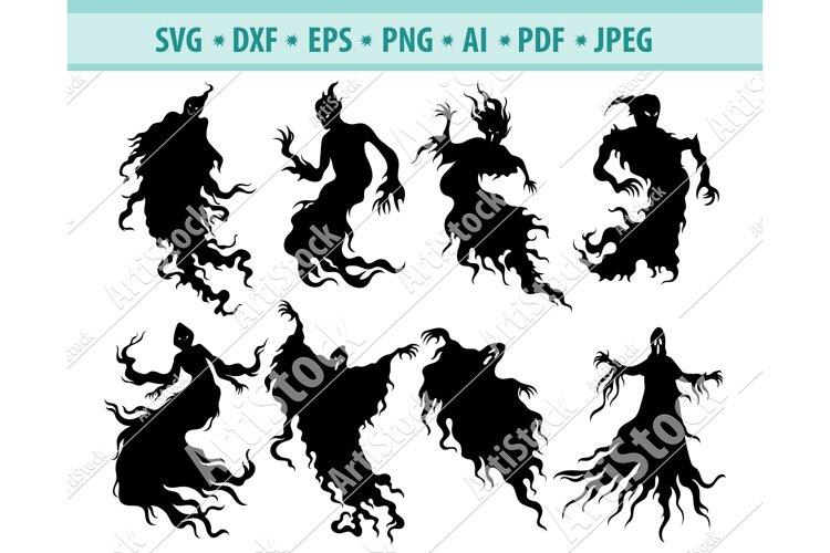 Ghosts SVG, Halloween SVG, Spirit Svg, Soul Png, Dxf, Eps example image 1