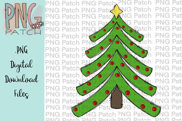 Funky Christmas Tree, Holiday PNG File example image 1