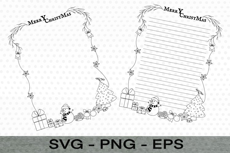 Christmas Frame Unlined Note,Backers Frames, Christmas example image 1