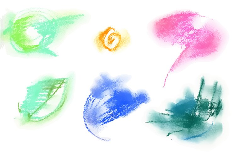 Abstract vector pastel elements example 2