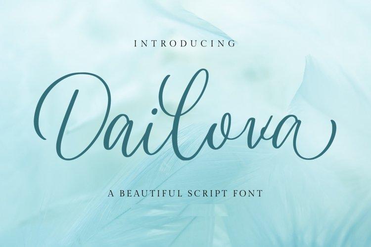 Dailova - Beautifull Script