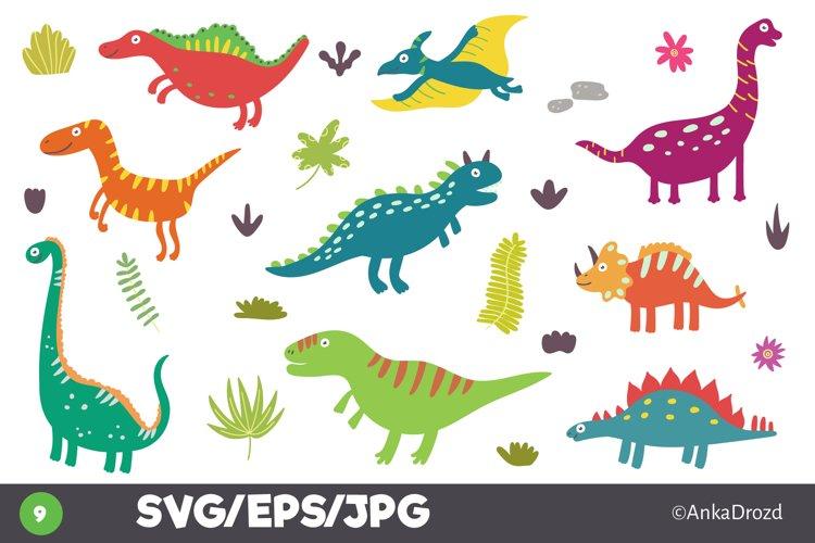 Fun Dino clipart. Kids Dinosaur printable