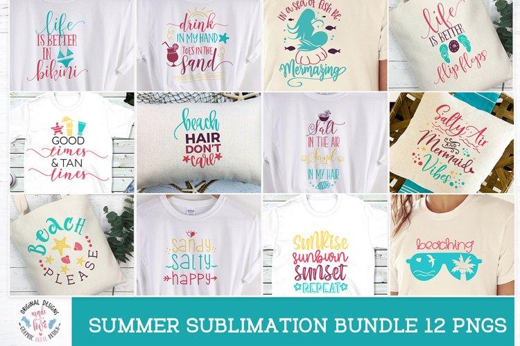Summer Girl Sublimation Bundle - 12 Summer/ Beach designs