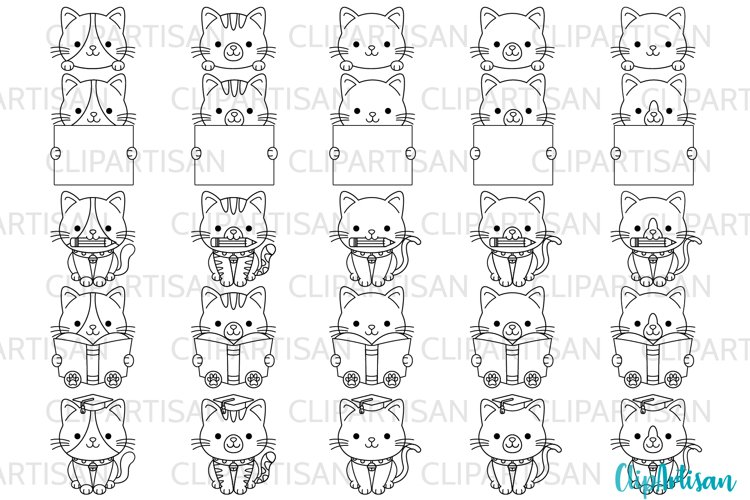 Kittens Clipart Kitty Cat Graduation SVG PNG example image 1