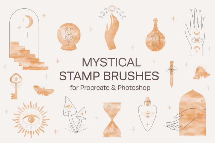 Mystical Stamp Brushes for Procreate example image 1