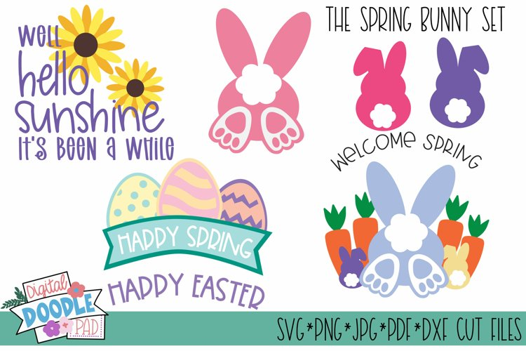 Spring Easter Bunny SVG Cut Files for Cricut and Silhouette