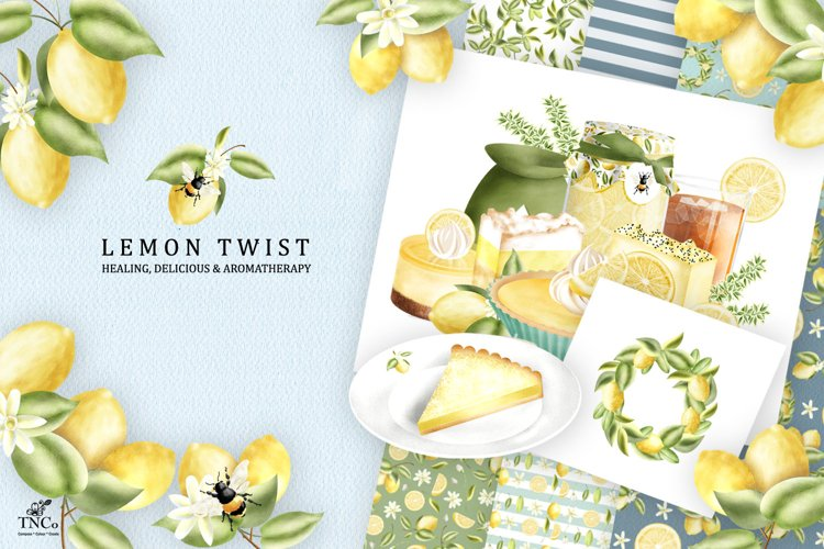 Lemon Twist Graphic Illustrations and patterns example image 1