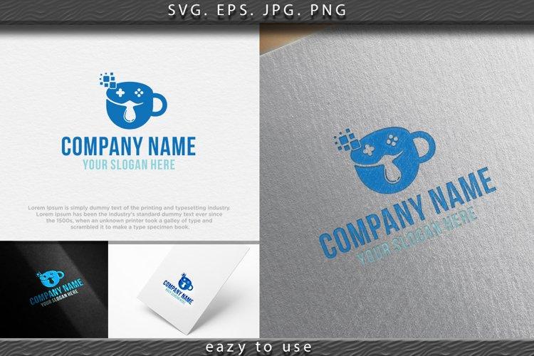 Coffee Game Logo Designs Inspiration, Vector Illustration