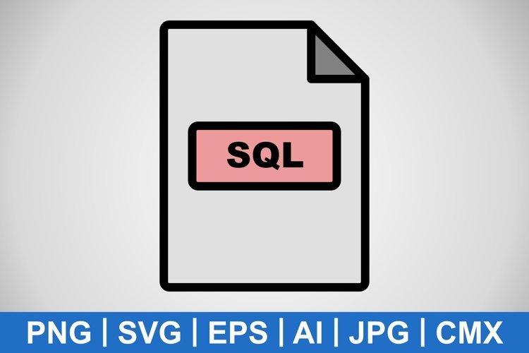 Vector SQL Icon example image 1
