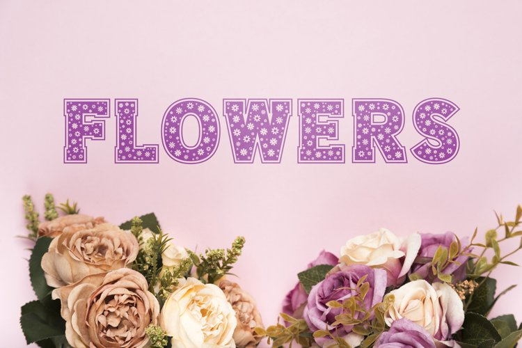 Flowers Slab Font example image 1