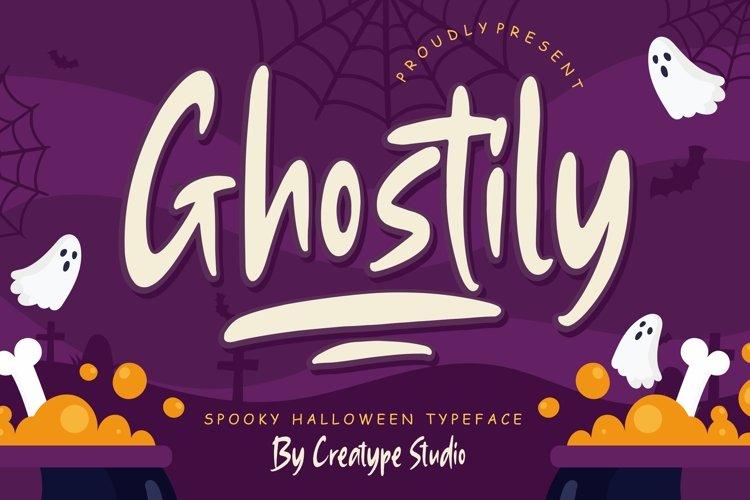 Ghostily Spooky Halloween Typeface example image 1