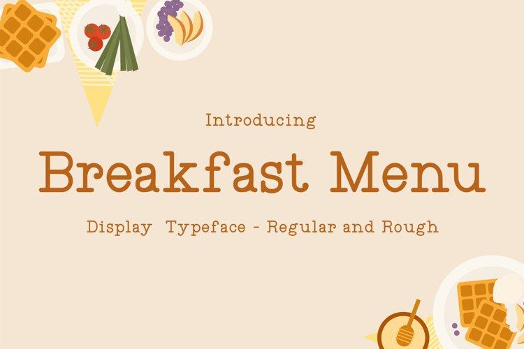 Breakfast Menu example image 1