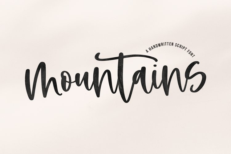 Mountains - A Handwritten Script Font example image 1