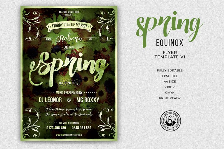 Spring Equinox Flyer Template V1