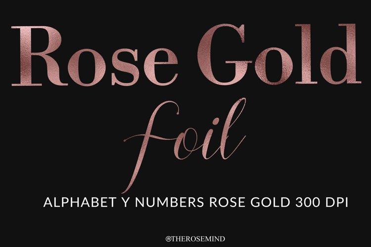 Alphabet, Rose gold, letters, sublimation
