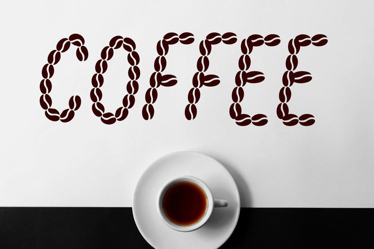 Coffee Beans Font example image 1