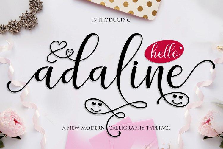 Adaline Script Font Family   WEB FONT