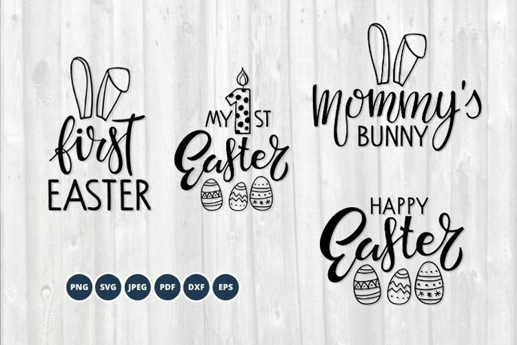 Baby Easter SVG Bundle. Happy Easter SVG set. Easter Bunny example image 1