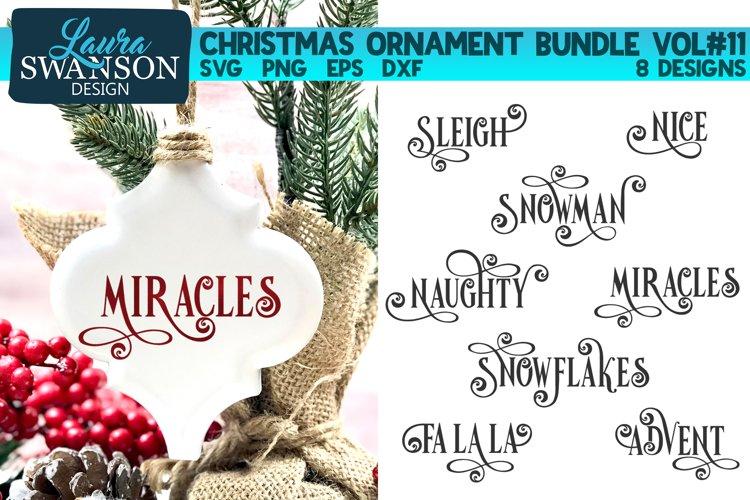 Christmas Ornament Bundle Vol#11   Christmas SVG Bundle example image 1