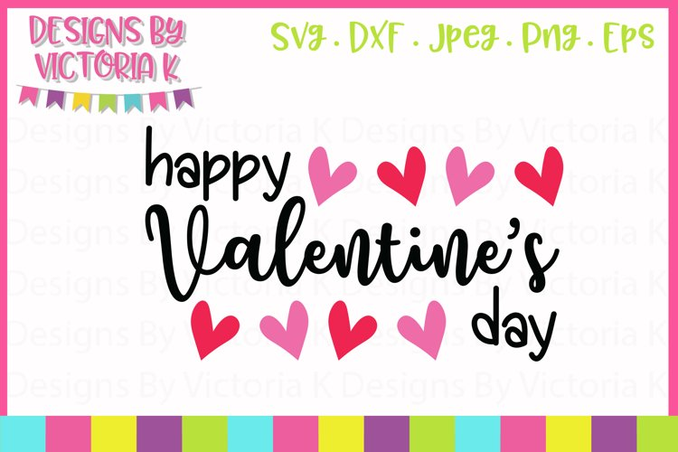 Happy Valentine's Day SVG Cut File example