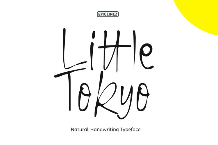 Little Tokyo - A Natural Handwriting Typeface example image 1