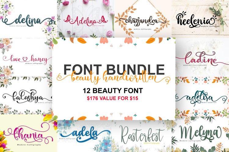 beauty handwritten font bundle example image 1