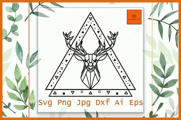 Deer Head SVG, Deer polygonal, Deer geometric, Deer Head example image 1