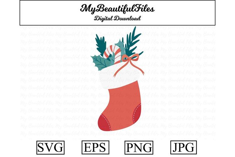 Christmas Stocking SVG - Cute Christmas SVG, EPS, PNG and JP
