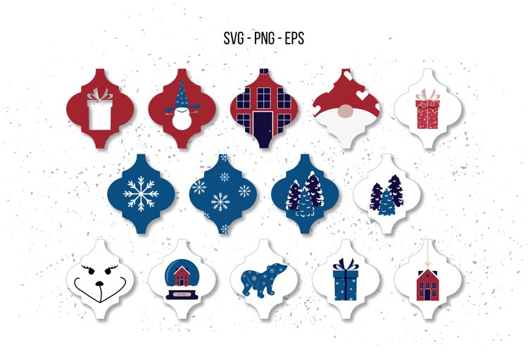 Arabesque Ornaments SVG, Christmas SVG example image 1