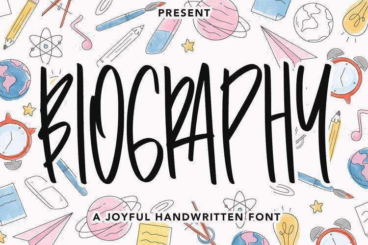 Biography - Handwritten Font example image 1