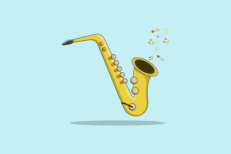 Saxophone Vector Illustration example image 1