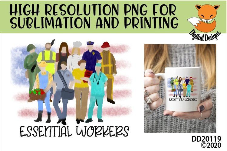 Essential Workers Sublimation example image 1