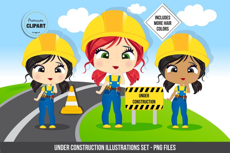 Construction girl graphics, Construction illustrations example image 1