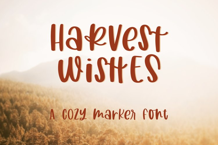 Harvest Wishes, Cozy Marker Font