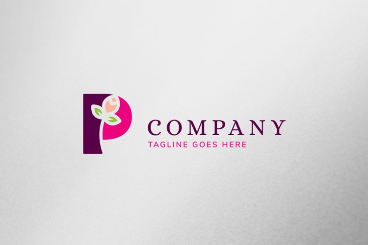 Eco Letter P Logo Template