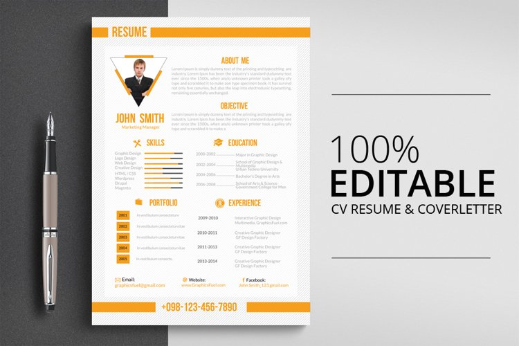 3 Pages Job CV Resume Template example image 1