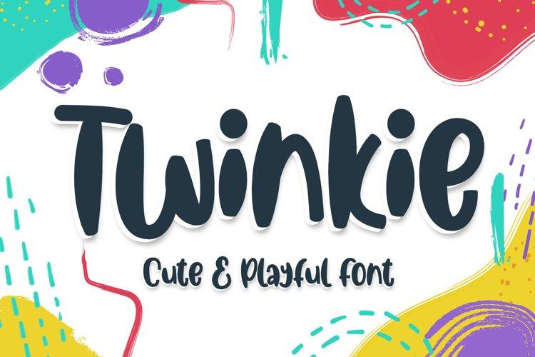 Twinkie - cute & playful font