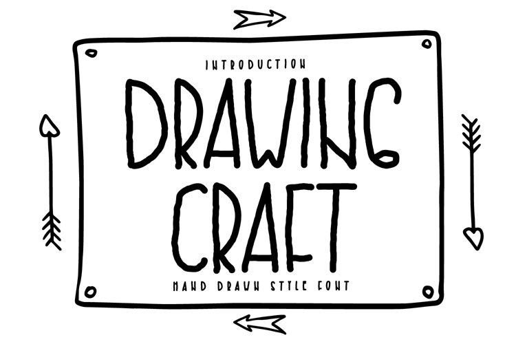 Drawing Craft - Hand drawn font example image 1