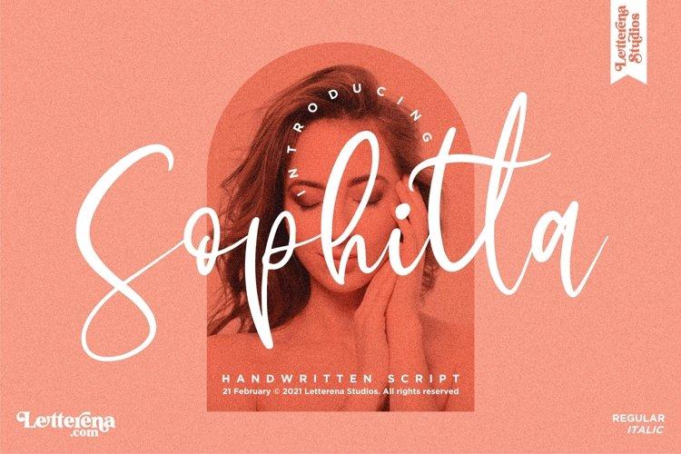 Sophitta - Signature Script Font example image 1
