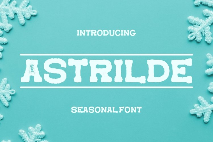 Web Font Astrilde Font example image 1