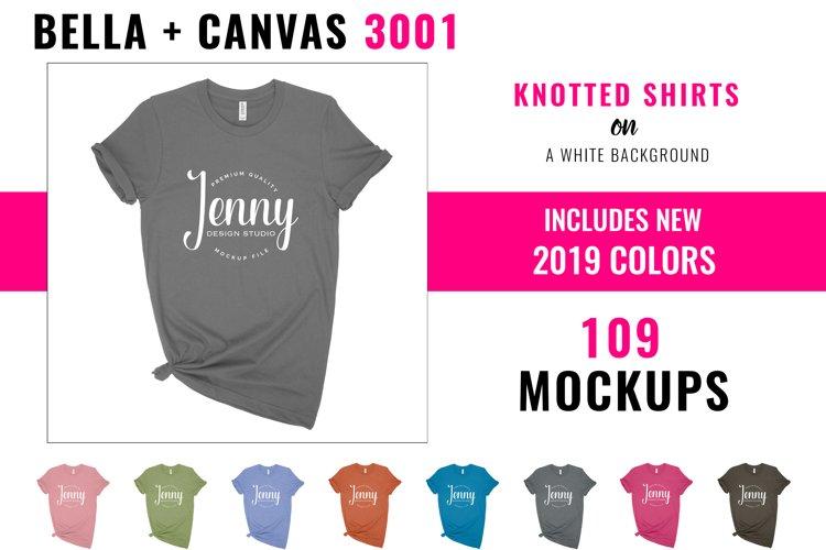 Bella Canvas 3001 Mockup Bundle, Knotted Tshirt Mockup