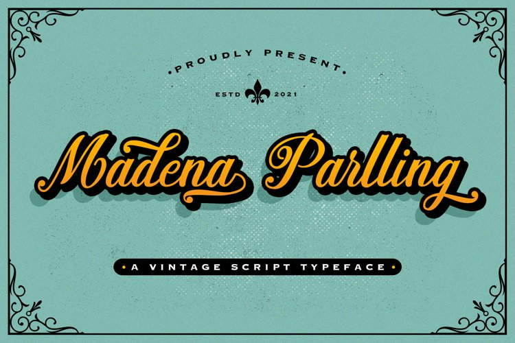 Madena Parlling - Bold Script Font example image 1