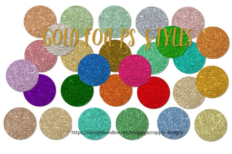 Gold Foil PS Styles