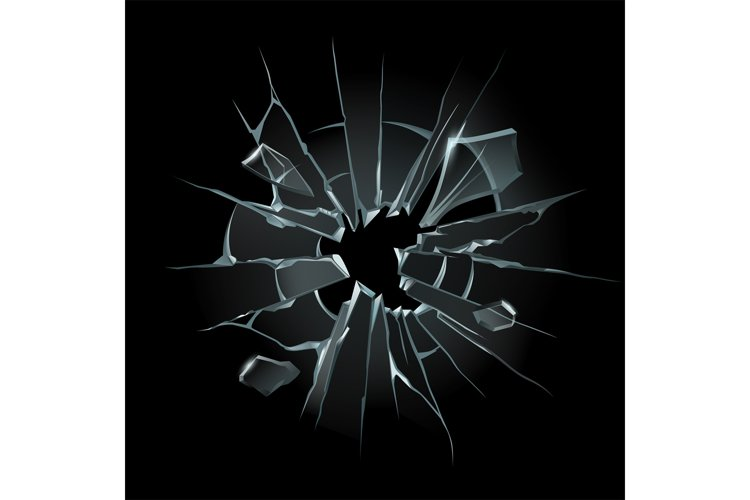 Broken window glass. Broken windshield, shattered glass or c example image 1
